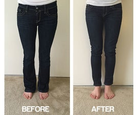 Transform flares into skinny jeans