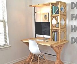 How to Build an Easy Farmhouse Desk