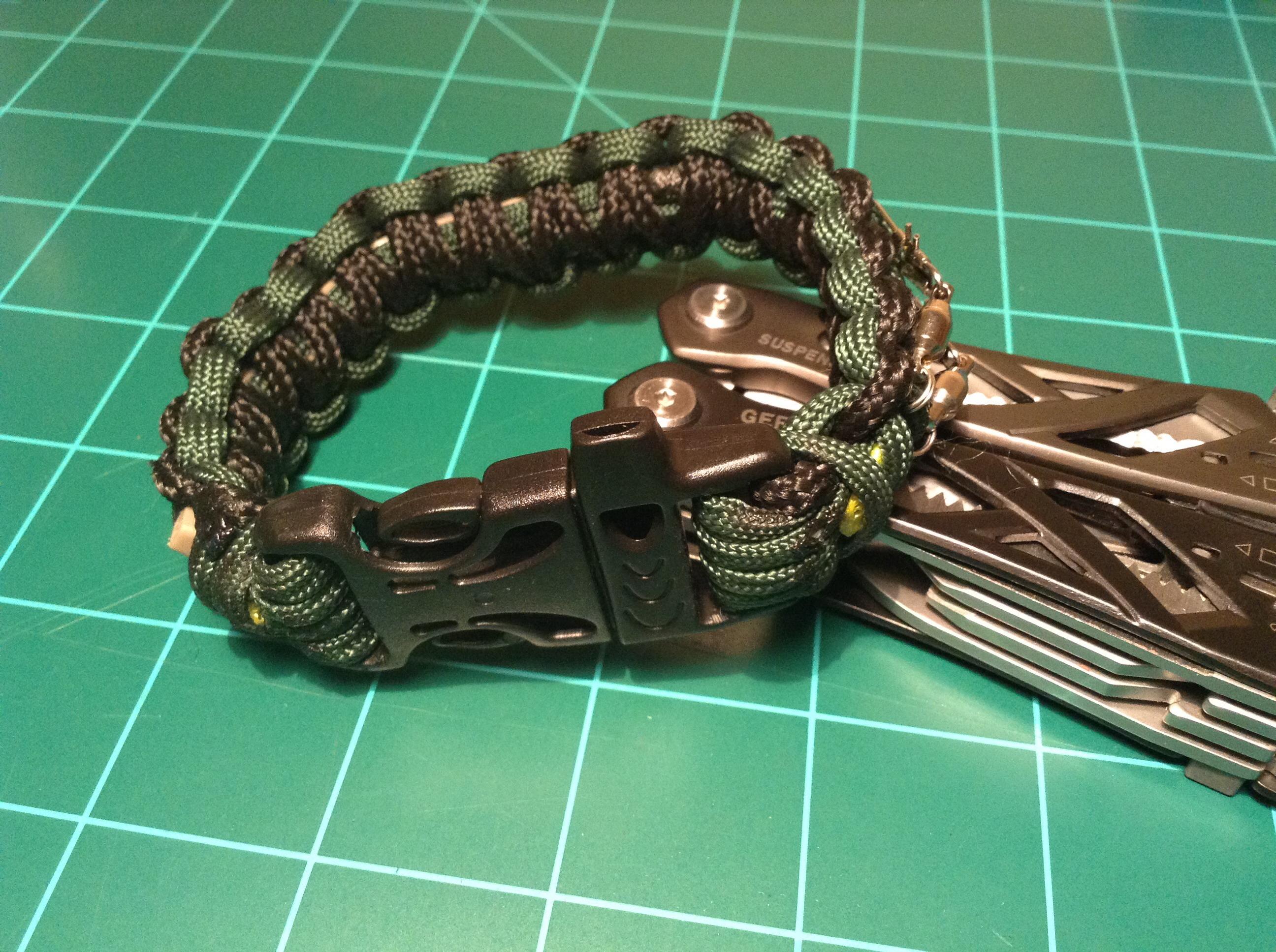 Picture of Survival Kit Inside a Paracord Bracelet