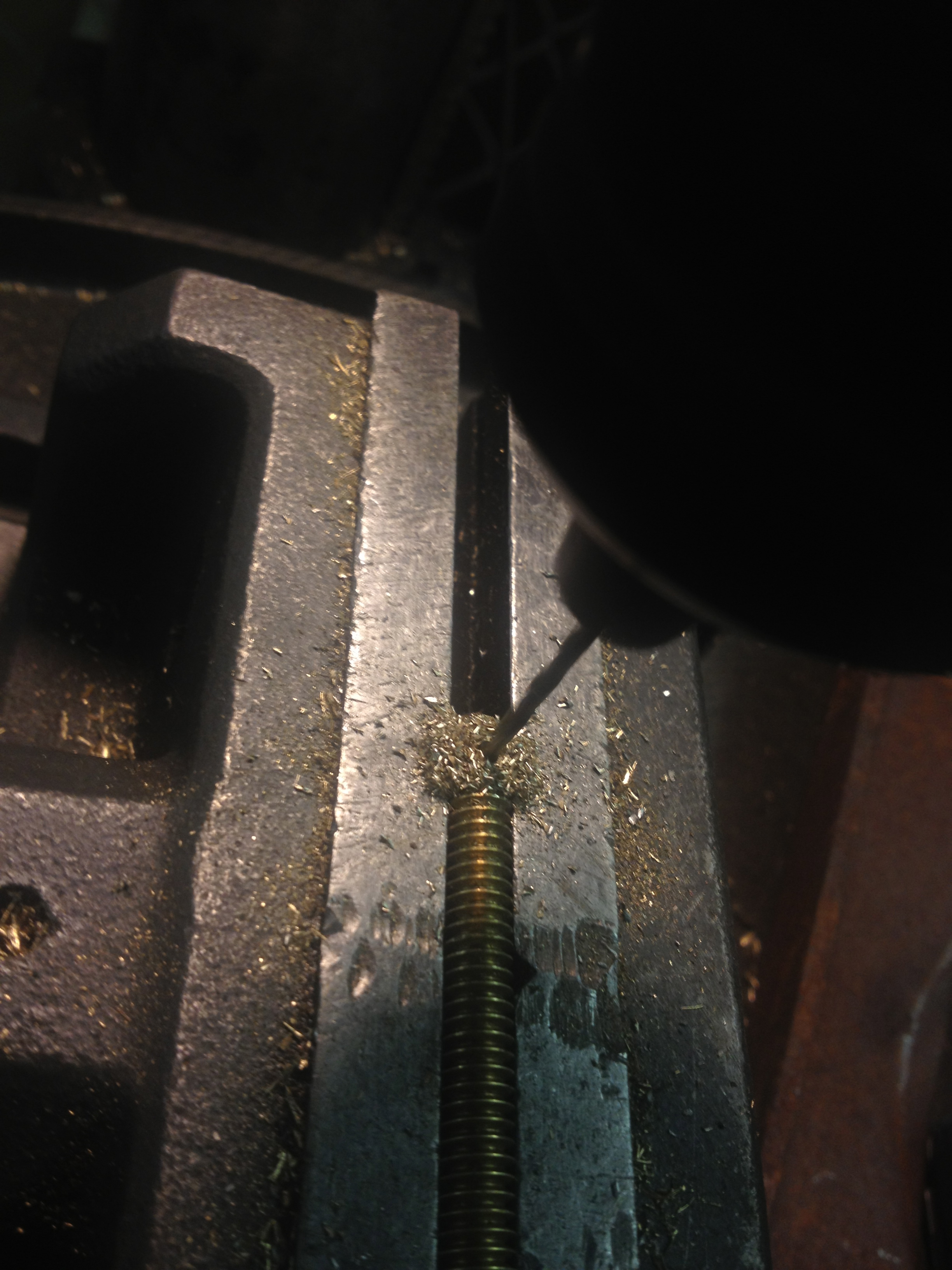 Picture of The Hard Part- Drilling Holes in Round Rod