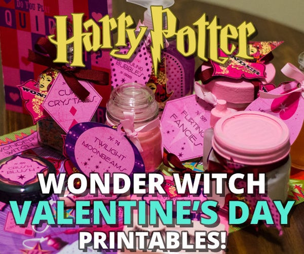 Wonder Witch Valentine's Day Printables