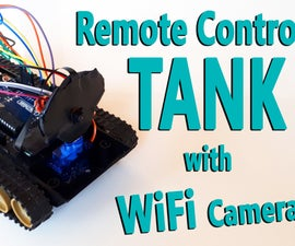 Arduino - Remote Controlled Tank With WiFi Camera (nRF24L+ / RC / Wireless)
