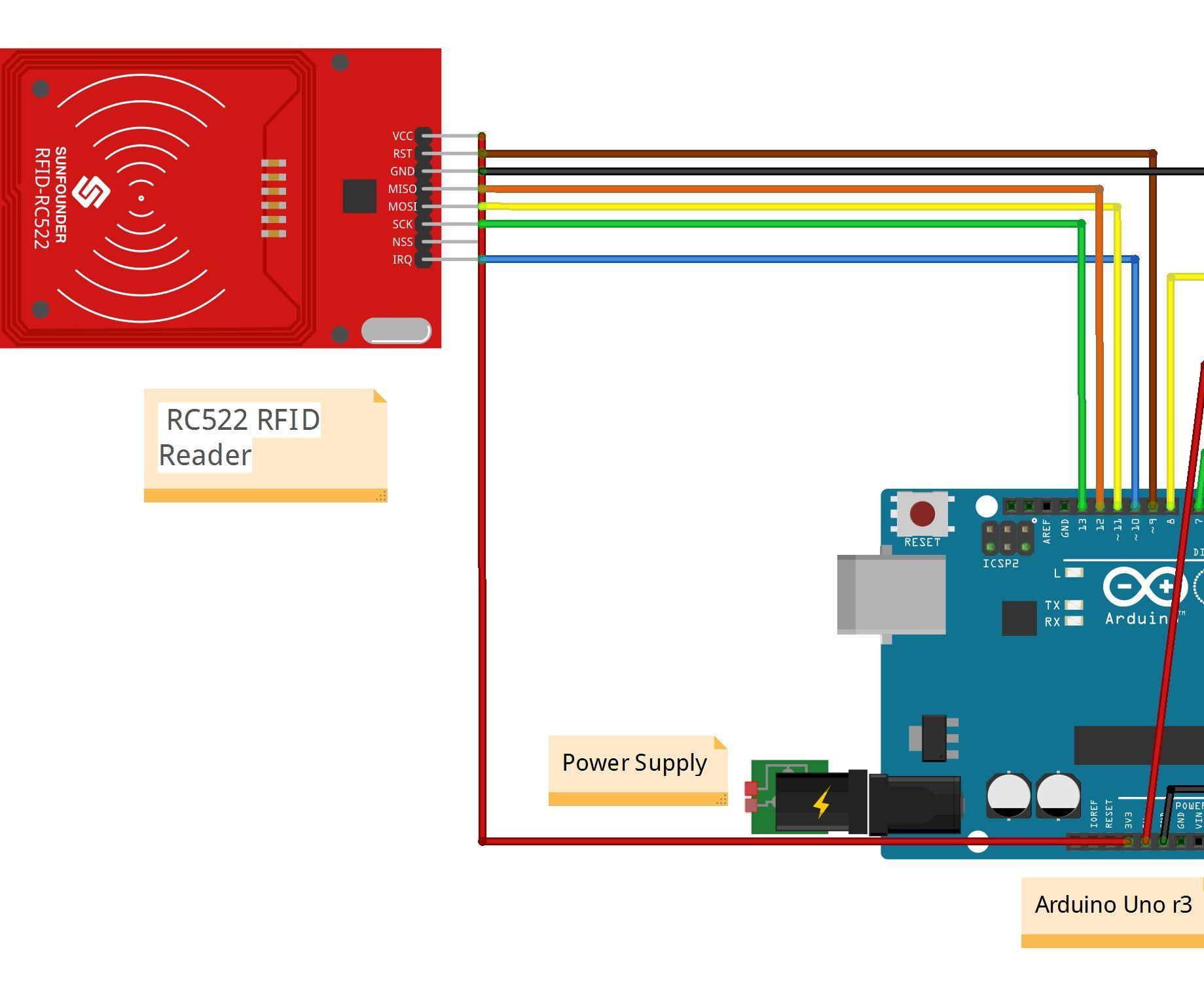 RFID and Bluetooth Door Lock: 4 Steps