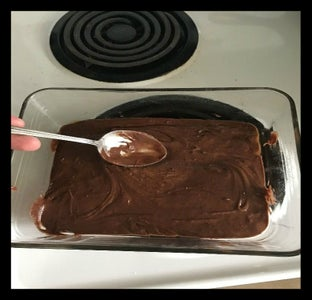 Spread the Brownie Batter Mix Evenly Across the Pan