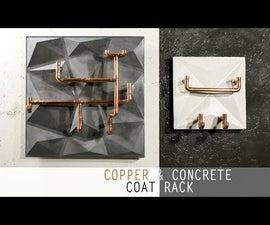 Easy Concrete & Copper Coat Rack Using 3D PVC Tile As Mold