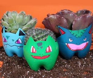 Recycled Bottle Okemon Planters