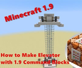 How to Make Elevator with Minecraft 1.9 Command Blocks
