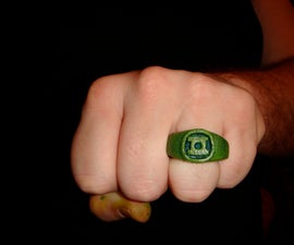 Green Lantern Ring - Made of Wood!!