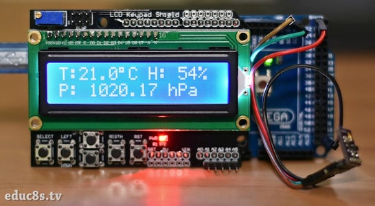 Arduino Easy Weather Station With BME280 Sensor