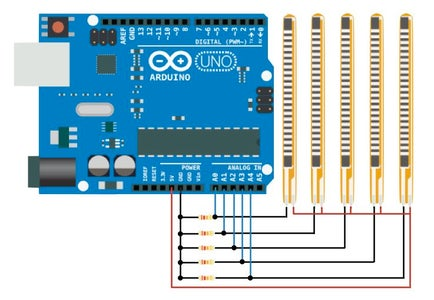 Connecting Flex Sensors to Arduino and Fixing It to the Glove