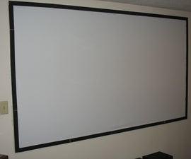 "Cheap DIY  100"" Projector Screen"
