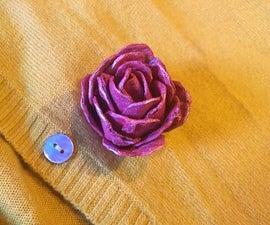 Upcycled Egg Carton Rose Brooch