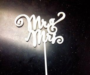 Wedding Cake Toppers, Seat Saver Name Plates, & Photo Booth Fun