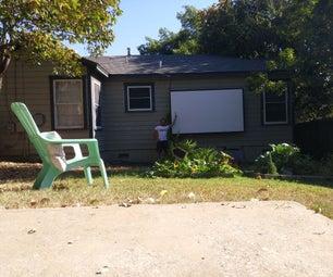 DIY Back Yard Movie Theater