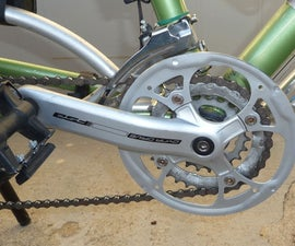 Simple bike chain guard made from large chain ring
