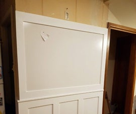 Wainscoting a Small Kitchen Wall (With magnetic board)