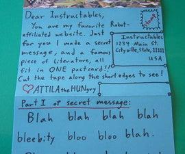Send a Postcard/Letter hybrid