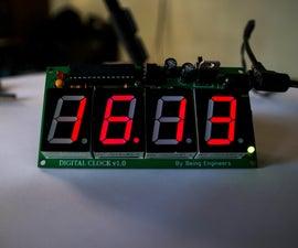 DIY Digital Clock With 7 Segment LED Display