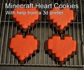 Make Minecraft heart cookies with help from a 3d printer