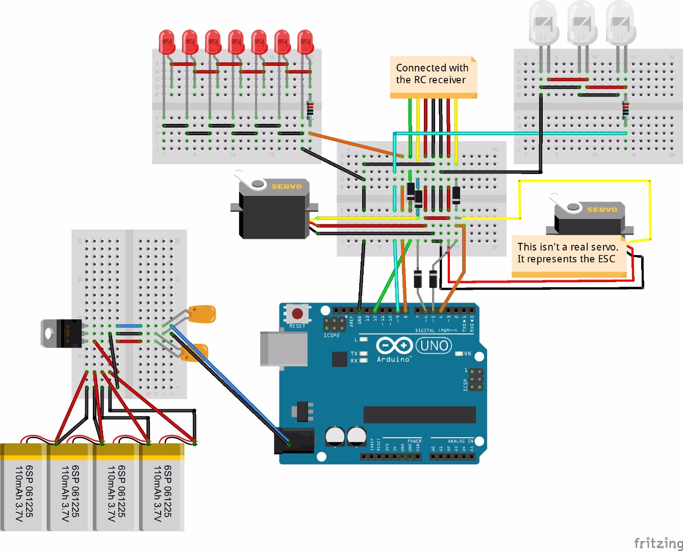 Picture of Connections With Arduino