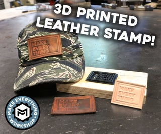 Leather Embossing With a 3D Printer!
