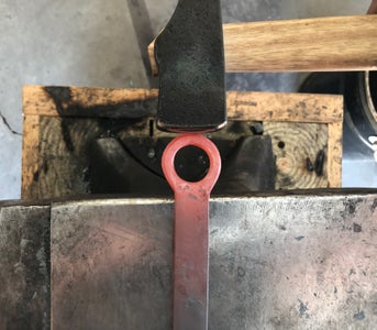 Forge the Loop Thinner, Chamfer, and Make It an Oval