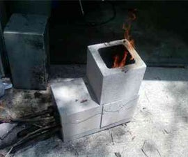 concrete rocket stove