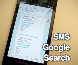SMS Google Search