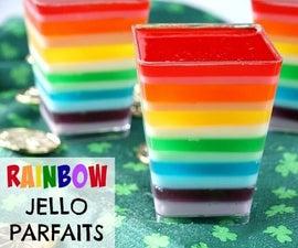 Rainbow Jello Parfaits