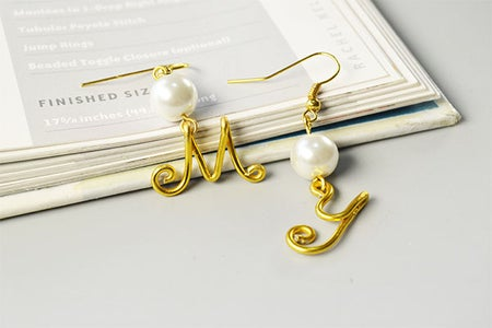 The DIY Personalized My Letter Earrings Look Like This:
