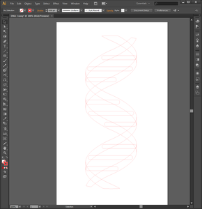 Drawing the Double Helix in Adobe Illustrator (Step 4)