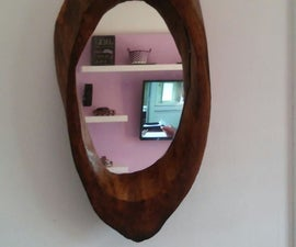 Log mirror frame!