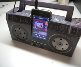 Add an iPhone Dock Connector to a Cardboard iPod Boombox