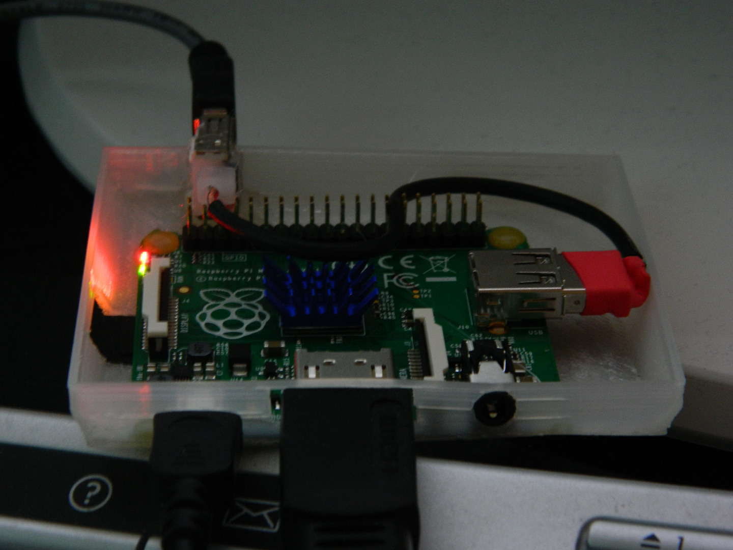 Picture of USB Cable and Testing.