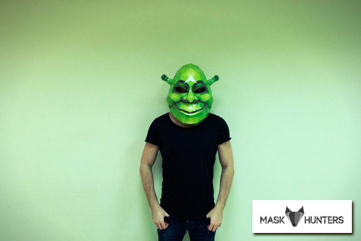 Picture of How to Make Shrek Mask From Paper