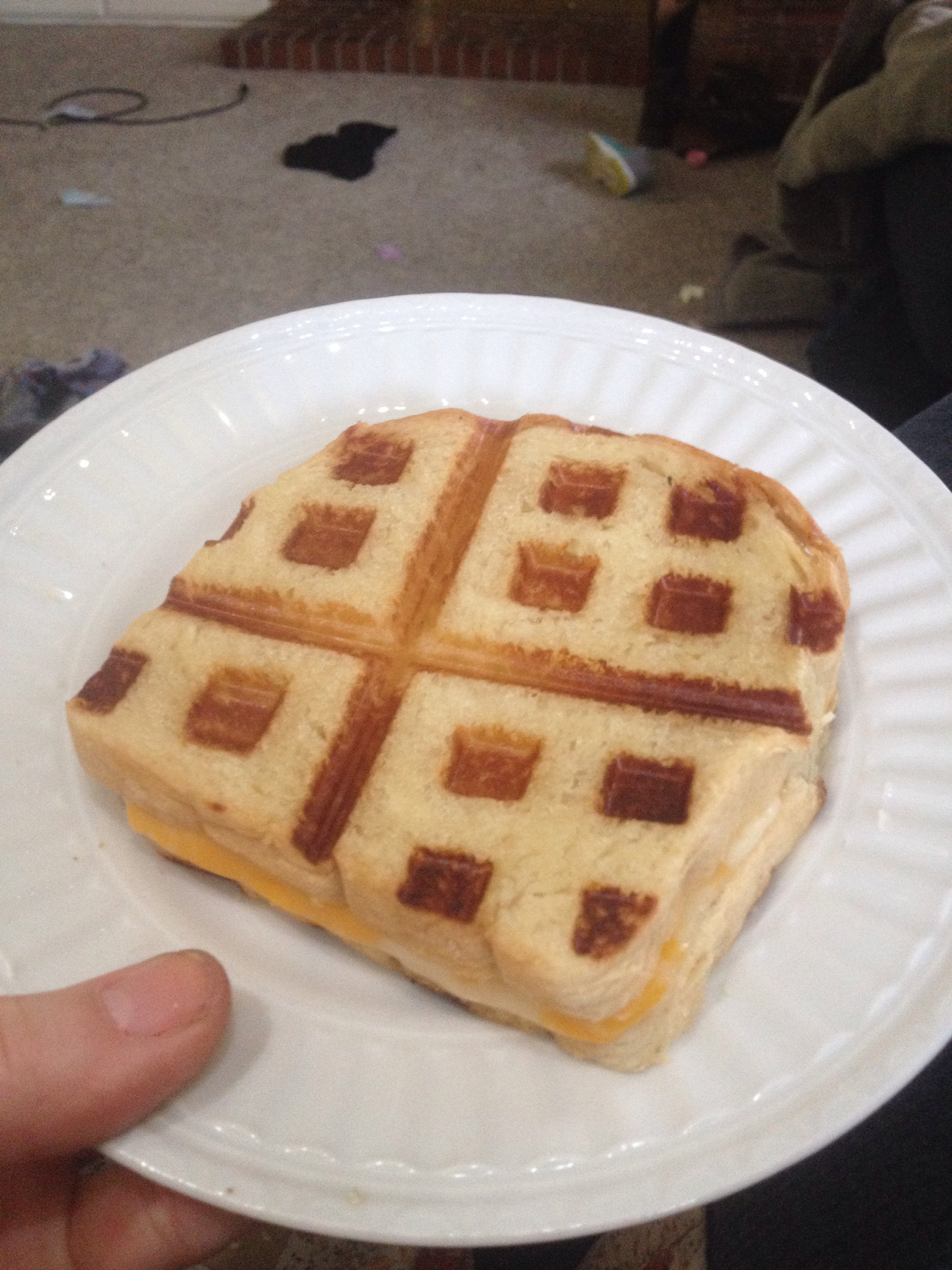 Picture of Waffled Grilled Cheese