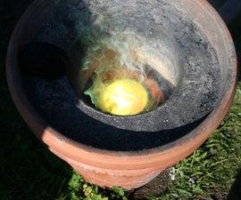 Flowerpot Furnace - a Home Foundry