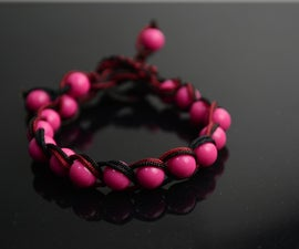 Easy friendship bracelets designs- weave your charm beads in