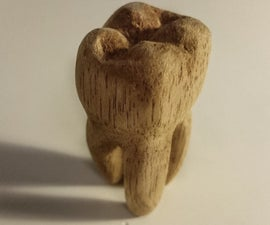 Carved Wooden Tooth