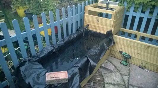 Fitting the Pond Liner, Filling Up