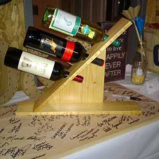 Wine Rack for 3 Bottles Out of Pallet Wood