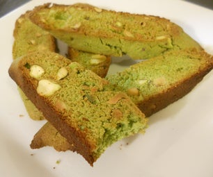 Green Pea and Pistachio Biscotti