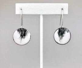 Rorschach Liquid Enamel Earrings