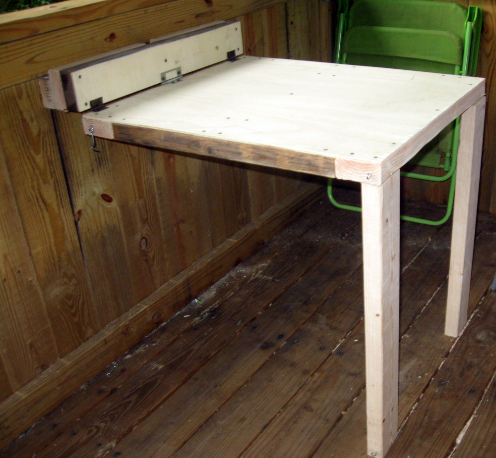 Build A Folding Table.Collapsable Table Treehouse Shop 4 Steps With Pictures