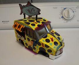 Ms. Chan's Sushi-2-Go Cardboard Van.