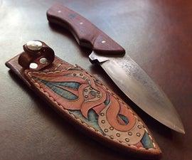 Tooled Leather Sheath