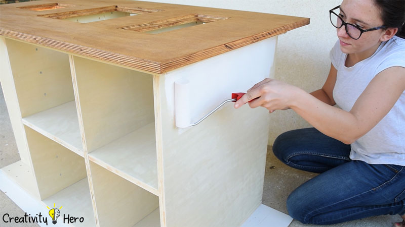 Picture of Painting the Workbench.