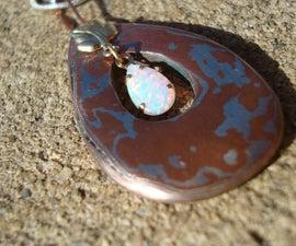 Mokume Opal Necklace