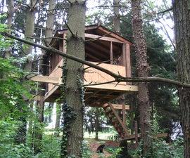 Treehouse sliding beam support
