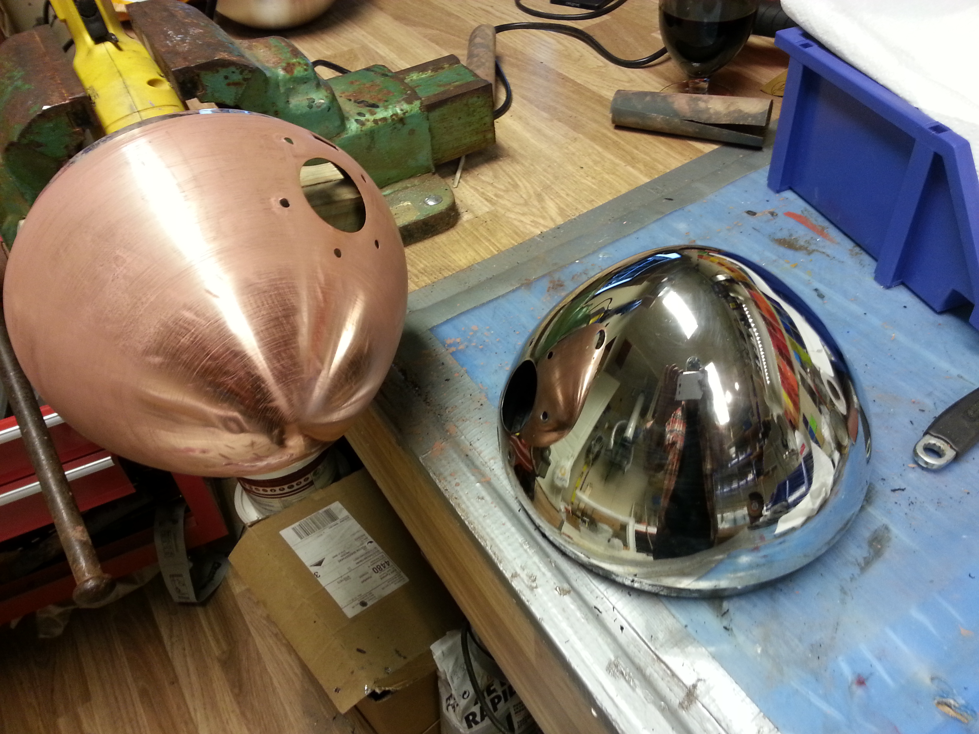 Picture of Chrome Plating of Car Headlights and Parts